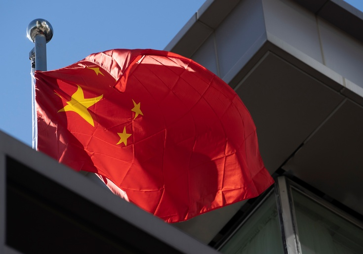 The Chinese flag flies over the China's consulate in Houston after the U.S. ordered its closure / Getty Images
