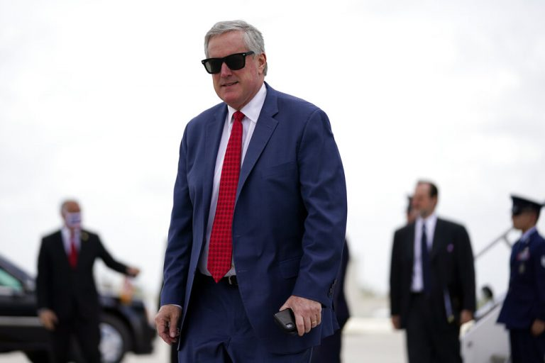 Chief of Staff Mark Meadows arrives at Miami International Airport on Friday, July 10, 2020,