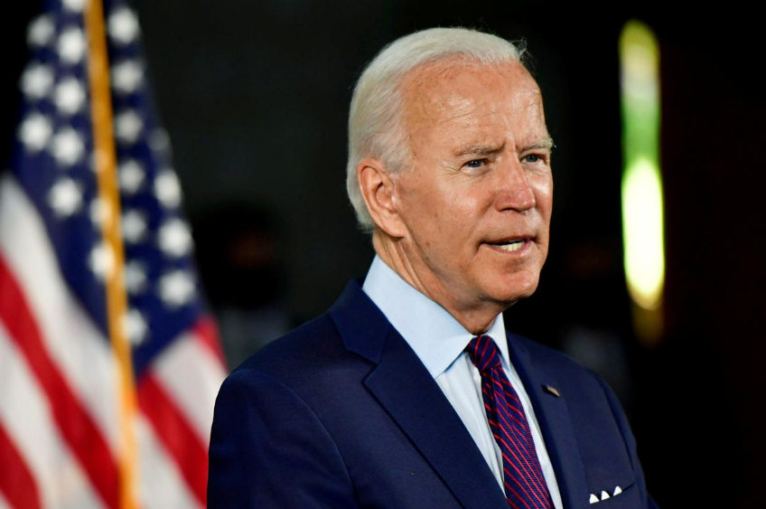 FILE PHOTO: Democratic U.S. presidential candidate and former Vice President Joe Biden speaks during a Biden campaign event at a recreation center in Lancaster,