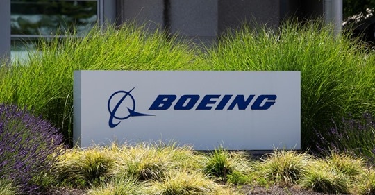 FILE PHOTO: Signage of The Boeing Company in Seattle, Washington, U.S. June 29, 2020. REUTERS/Karen Ducey