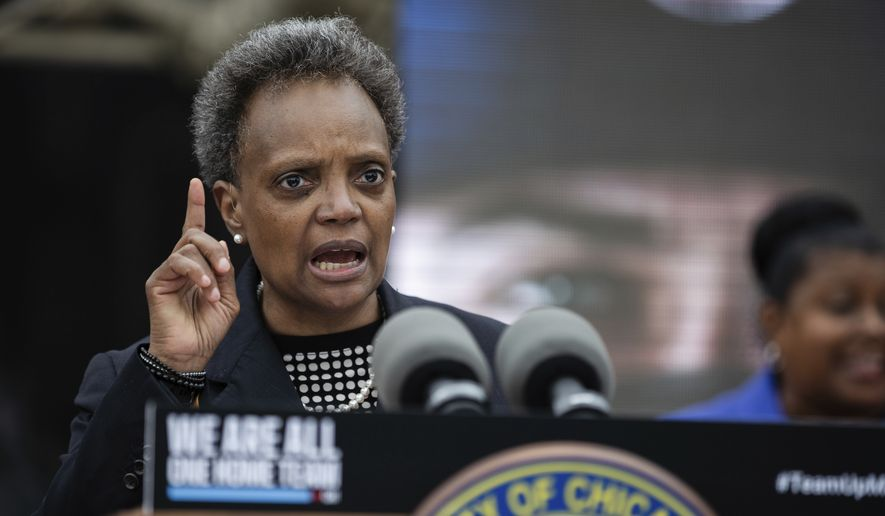Chicago Mayor Lori Lightfoot speaks about how she would respond if President Donald Trump deploys federal forces to Chicago,