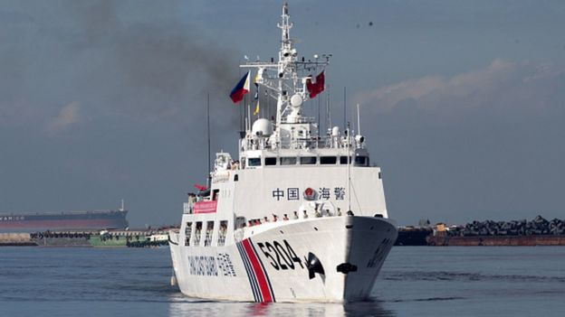 China's coast guard said it intercepted the ship off the coast of the southern province of Guangdong on Sunday morning.