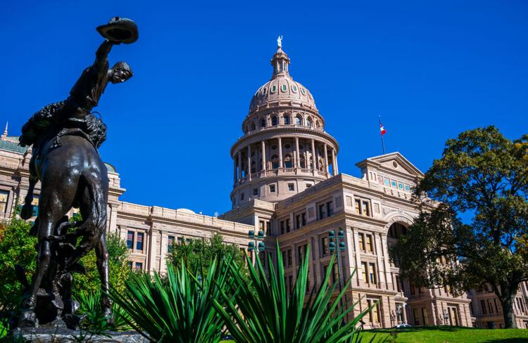 The Texas State Capital building in Austin  Shutterstock.com