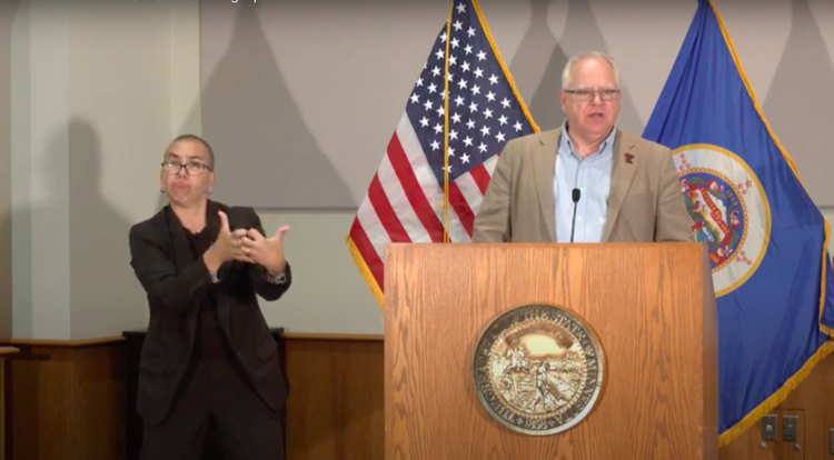 Gov. Tim Walz announces a mask mandate in indoor public spaces starting Friday at 11:59 p.m. to curb the spread of COVID-19.