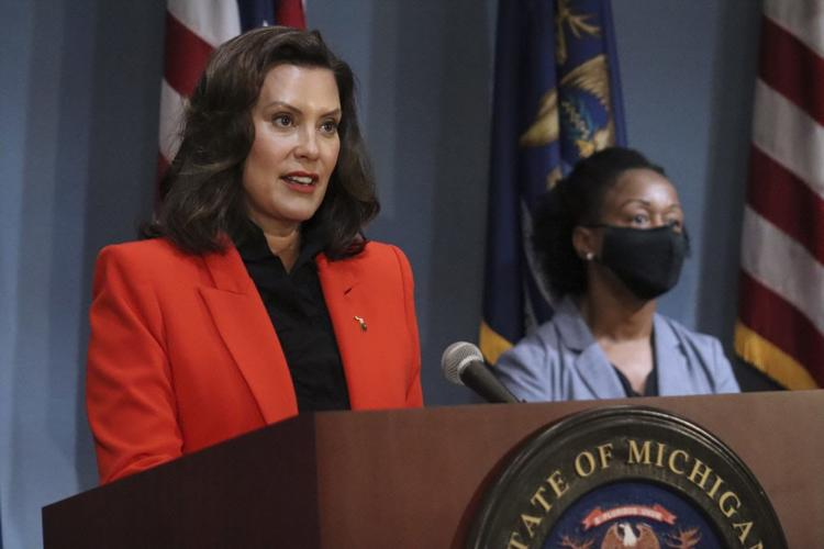 Gov. Gretchen Whitmer asks for more federal aid to battle the COVID-19 pandemic on July 28, 2020.