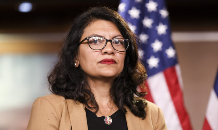 Rep. Rashida Tlaib (D-Mich.) at a press conference on the Capitol on July 15, 2019.