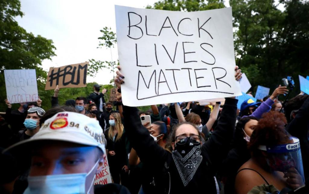Black Lives Matter protesters in Boston, June 2 (Maddie Meyer/Getty)
