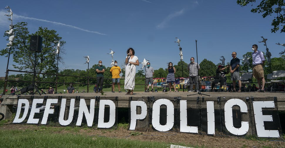 """In June, Council Member Alondra Cano spoke during """"The Path Forward"""" meeting at Powderhorn Park. The focus of the meeting was the defunding of the Minneapolis Police Department."""
