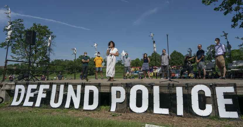 "In June, Council Member Alondra Cano spoke during ""The Path Forward"" meeting at Powderhorn Park. The focus of the meeting was the defunding of the Minneapolis Police Department."