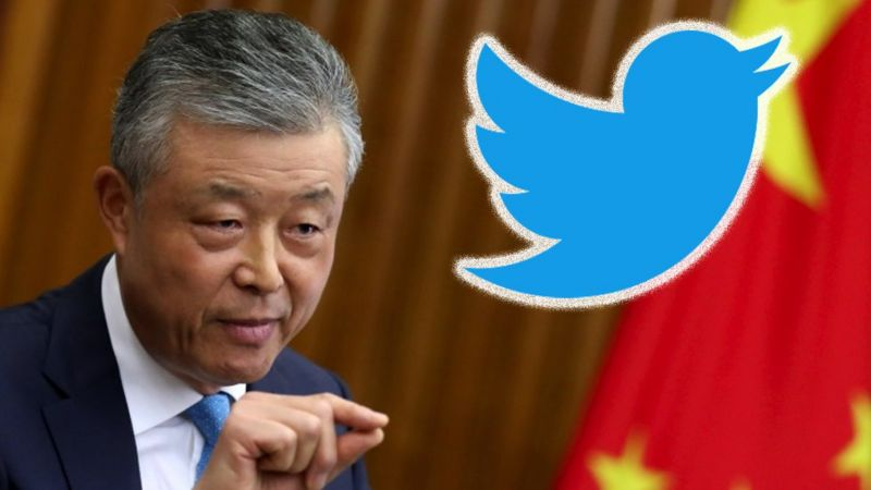 image captionAmbassador Liu Xiaoming has had a Twitter account since late last year.