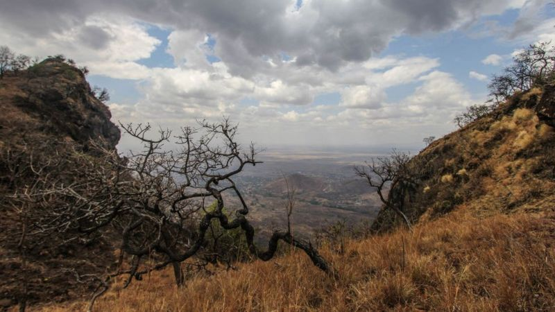 GETTY IMAGES The prisoners are believed to have fled into the Mount Moroto hills.