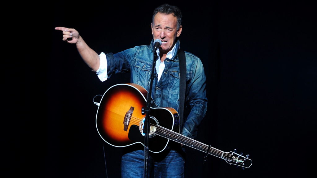 Bruce Springsteen performs at the 12th annual Stand Up For Heroes benefit concert at the Hulu Theater at Madison Square Garden in New York. Nov. 5, 2018.