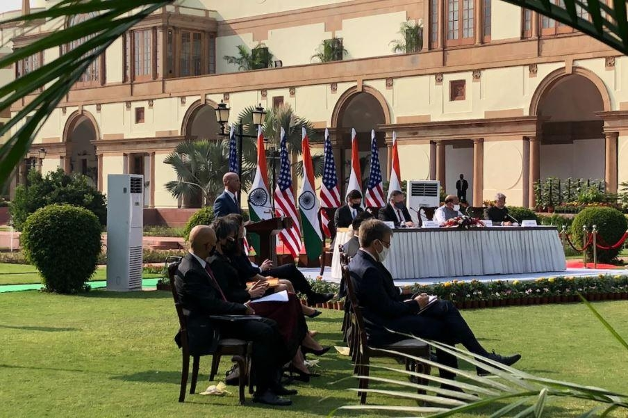 An agreement between India and the United States was signed in New Delhi this week calling for U.S. sharing of geospatial data, useful for steering missiles and drones, with India.