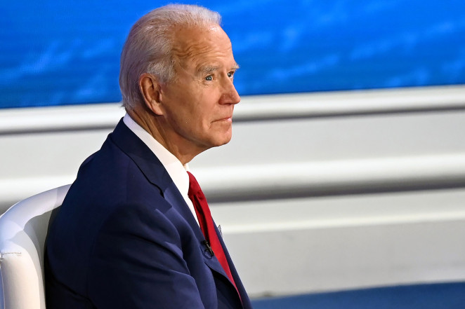 Democratic presidential candidate Joe Biden participates in an ABC News town hall event tonight.AFP via Getty Images