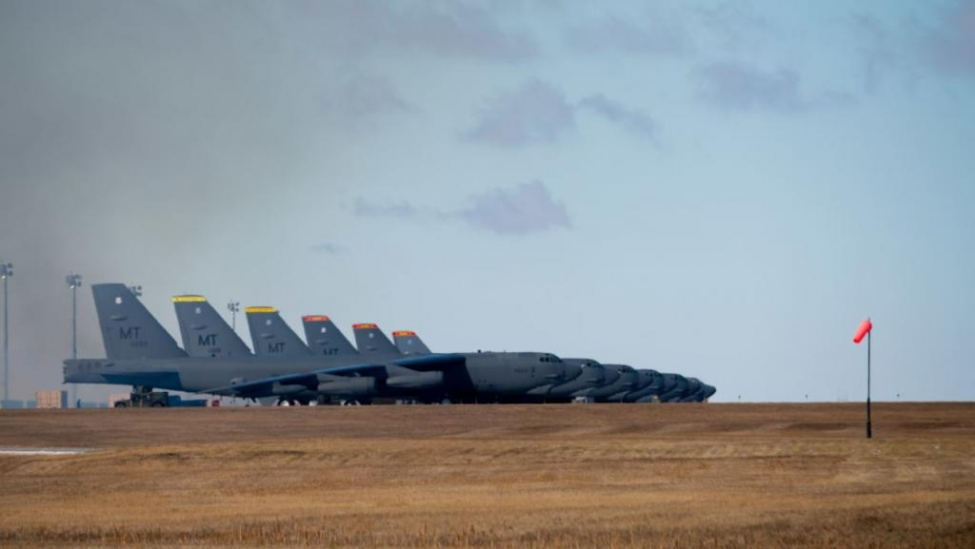 B-52H Stratofortress bombers prepare for Global Thunder 21, the U.S. Strategic Command exercise, on Oct. 23 at Minot Air Force Base in North Dakota.