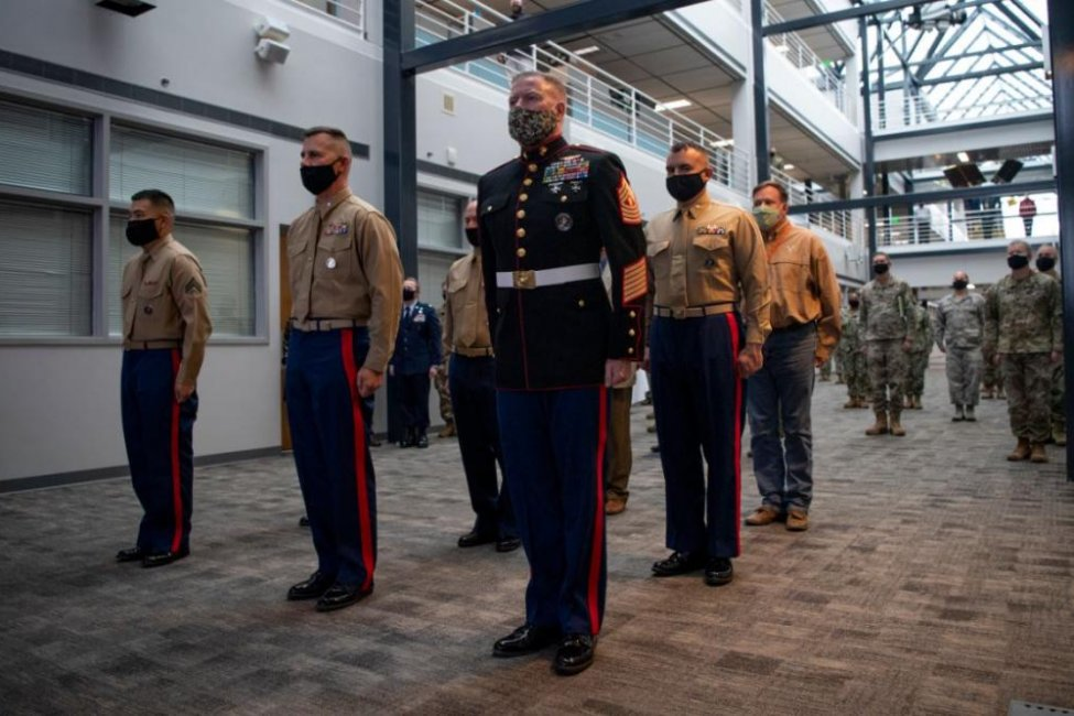 U.S. Space Command at Paterson Air Force Base, Colo., on Tuesday hosted a 245th birthday celebration for the U.S. Marine Corps, which has finalized the creation of Marine Forces Space Command.