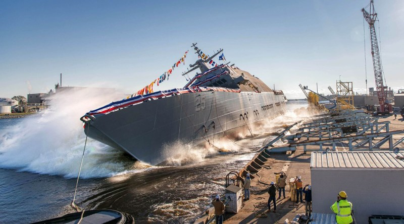 Lockheed Martin-Led Team Launches U.S. Navy Littoral Combat Ship Future USS Marinette (LCS-25)