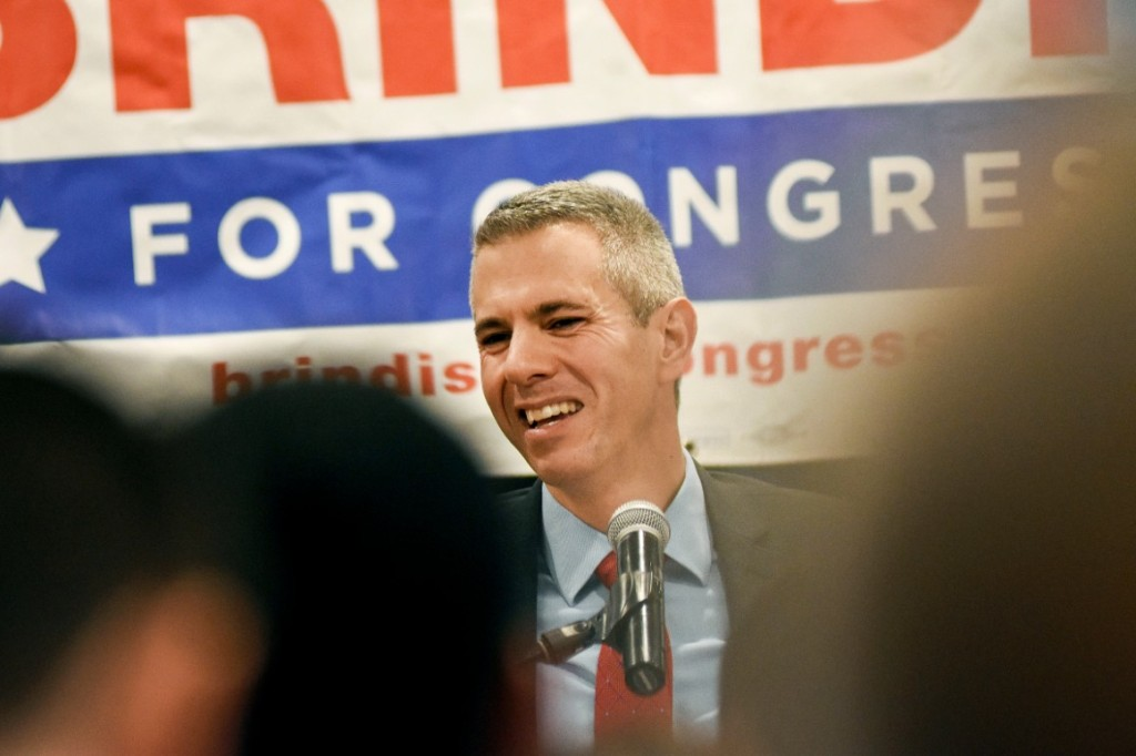 Rep. Anthony Brindisi speaks to supporters on election night in Utica, N.Y. | Heather Ainsworth, File/AP Photo