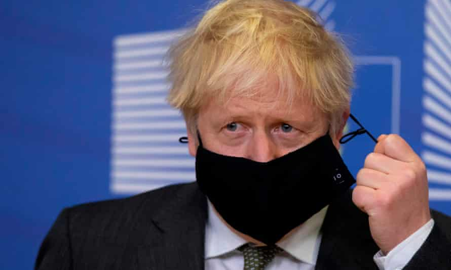 Boris Johnson was meeting Ursula von der Leyen in the Berlaymont building at the EU headquarters in Brussels.