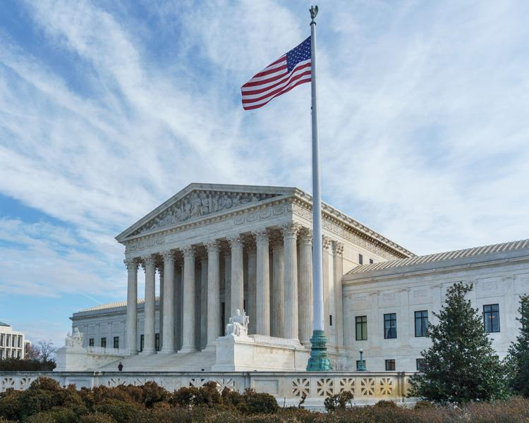The United States Supreme Court Building in Washington, D.C.  Shutterstock image