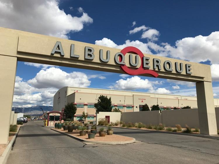 This Oct. 8, 2018, file photo shows the entrance to ABQ Studios in Albuquerque, N.M.