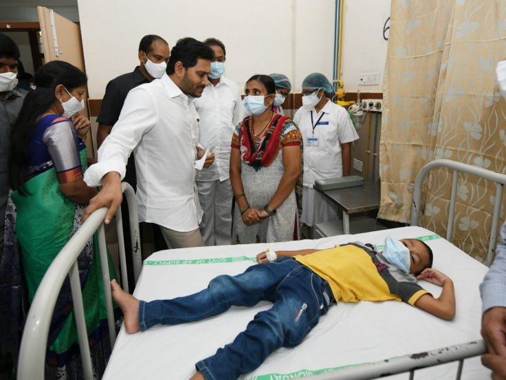 Andhra Pradesh Chief Minister Y.S. Jaganmohan Reddy visited the Government General Hospital in Eluru, where more than 300 people were hospitalized due to a mystery illness.