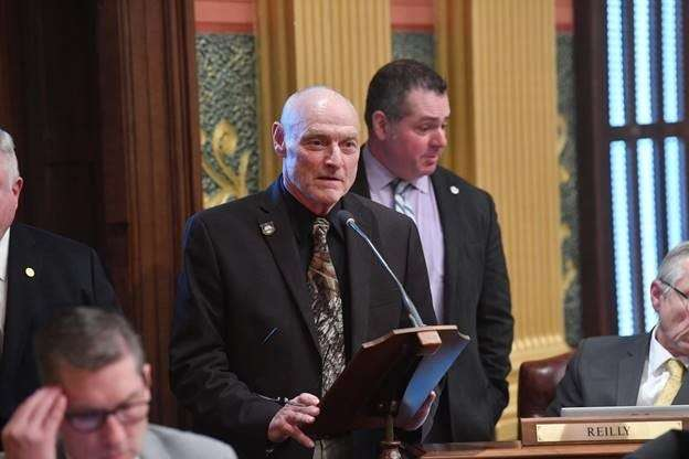 House Resolution 227 on Tuesday, Feb. 25, 2020, in the Michigan House chamber.