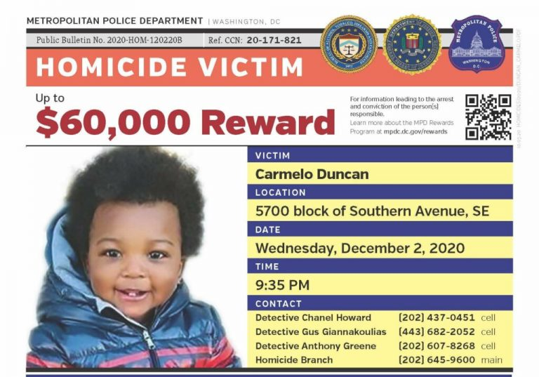 Carmelo Duncan, 15 months, was shot and killed in D.C.