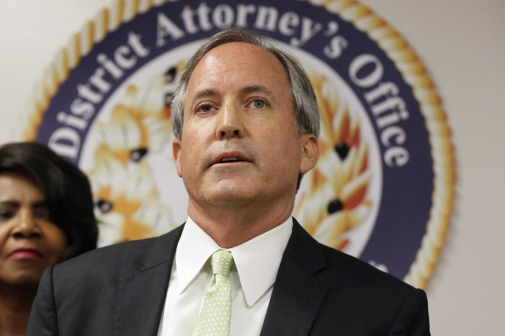 Texas Attorney General Ken Paxton speaks at a news conference in Dallas. | AP Photo/Tony Gutierrez