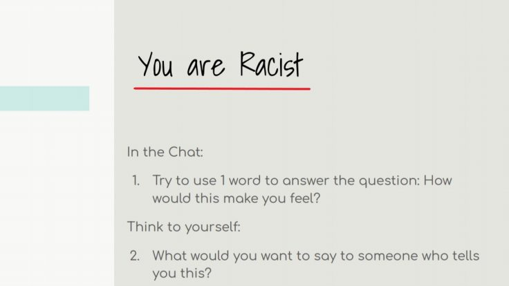 "A slide from San Diego's ""anti-racist"" teacher training / Twitter"