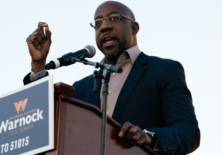 Georgia Senate candidate Raphael Warnock (D.) / Getty Images