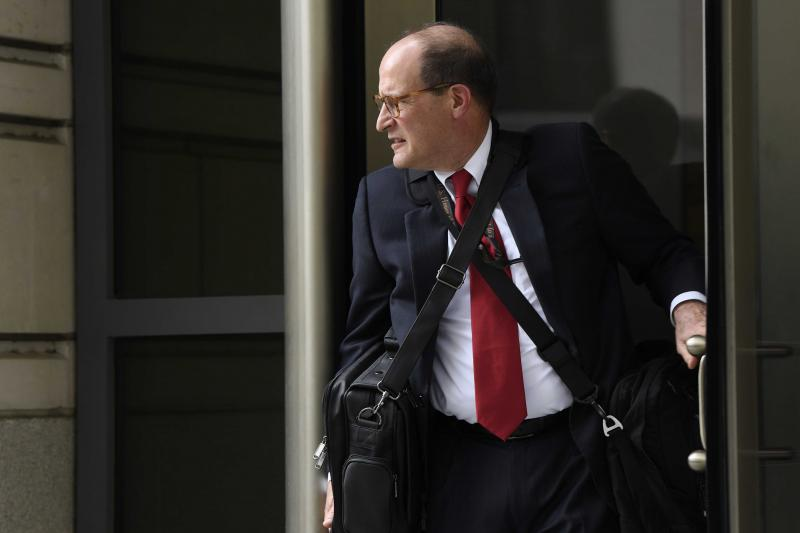 Attorney Douglas Letter, who is representing House Democrats, leaves federal court in Washington. | AP Photo/Susan Walsh