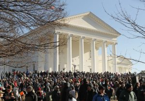 Second Amendment supporters protest at Virginia capitol in January 2020 / Getty Images