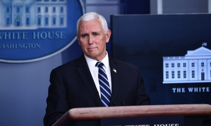 Vice President Mike Pence speaks during a White House Coronavirus Task Force press briefing in the James S. Brady Briefing Room of the White House on Nov. 19, 2020.