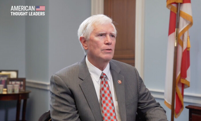 "Rep. Mo Brooks (R-Ala.) in an interview with ""American Thought Leaders."" (The Epoch Times)"