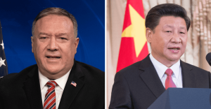 Former US Secretary of State Mike Pompeo and China's Xi Jinping. (U.S. State Department photos/Released)