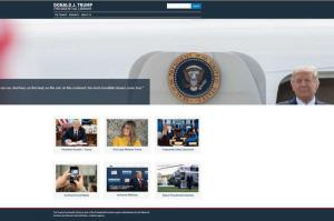 The National Archives and Records Administration launched a website for the Trump Presidential Library.