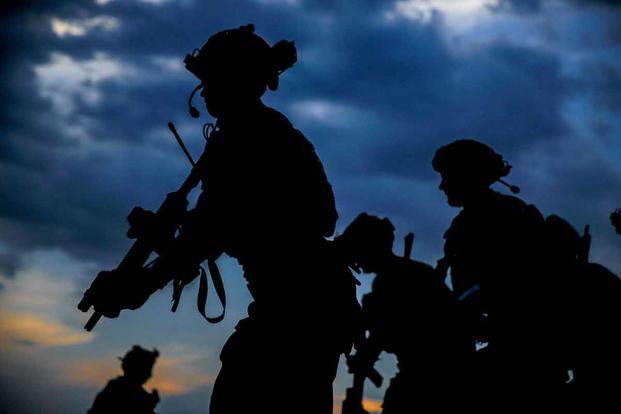 Green Berets conducting urban movement training in July at Fort Bragg, North Carolina.