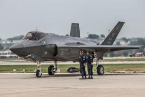 F35 Fighter Jet at Offutt Air Force Base during the Nebraska Defenders of Freedom Air Show  Shutterstock