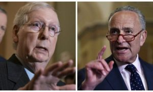 Senate GOP Leader Mitch McConnell (R-Ky.) and Senate Democrat Leader Chuck Schumer (D-N.Y.) in file photos.