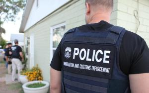 This photo comes from the second national wave of Operation Cross Check, an effort by ICE to arrest and deport undocumented immigrants with criminal records.