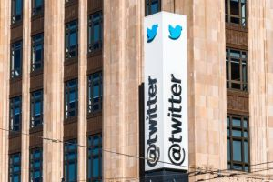 Aug 21, 2019 San Francisco / CA / USA - Twitter headquarters in downtown San Francisco; Twitter Inc is an American microblogging and social networking service