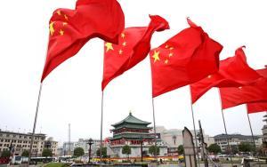 China flag (Wang Xiaofeng/VCG via Getty Images)
