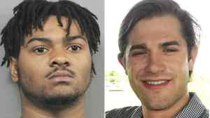 Jalen Harvey, left, was arrested and charged with first-degree murder in the death of Joseph Vindel, right, the sheriff's office said.