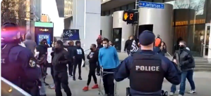Antifa guys armed semiautomatic rifles  showed up with the Black Lives Matter activists to harass children who were going to a cheer competition in Louisville. Terrorists.