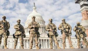 Virginia National Guard Airmen near the U.S. Capitol, Jan. 13, 2021, in Washington, D.C.