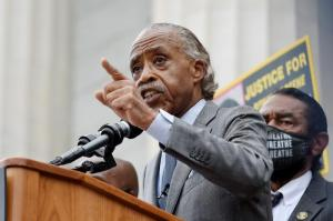 Rev. Al Sharpton has been trying to put pressure on Democratic senators unwilling to end the filibuster.