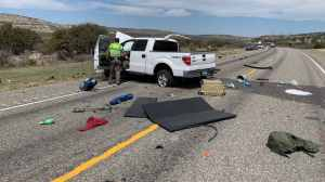 The aftermath of the head-on collision, which left 8 dead. (Texas Department of Public Safety)