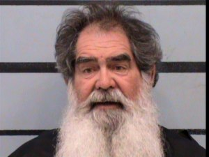 Larry Lee Harris, 66, was arrested by Texas police after they say he ambushed a National Guard convoy carrying COVID-19 vaccine.