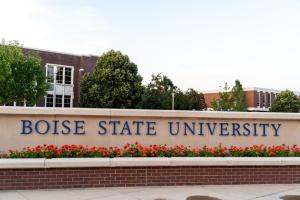 Boise State Campus sign at the college campus, exterior view  Shutterstock